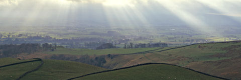 Yorkshire panorâmico Foto de Stock Royalty Free