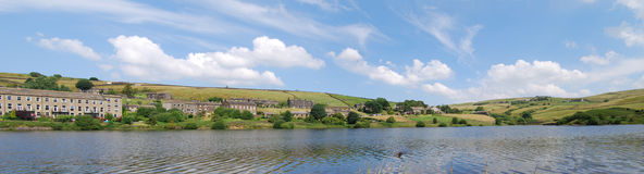 Yorkshire Panorama. A Yorkshire Reservoir in Summer Royalty Free Stock Image