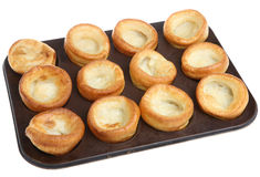 Yorkshire Puddings on Baking Tray Stock Image