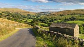 Yorkshire-Täler nahe Cowgill, Cumbria, Großbritannien lizenzfreie stockbilder