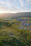 Yorkshire-Tal-Kalkstein Stockfotografie