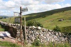 Yorkshire-Tal-Zeichen Lizenzfreies Stockbild