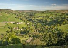 Yorkshire-Talsommerszene Stockbild