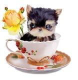 Yorkshire Terrier akwareli obraz Fotografia Royalty Free
