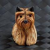 Yorkshire terrier ceramico Fotografie Stock Libere da Diritti