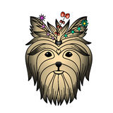 Yorkshire terrier color tattoo Royalty Free Stock Images