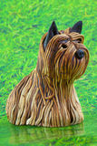 Yorkshire terrier decoration Stock Image