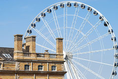 Yorkshire Wheel at York. Ferris Wheel with Station Hotel at York Stock Photography