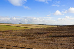 Yorkshire wolds farming Stock Image