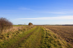 Yorkshire wolds footpath Stock Photos