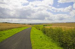 The Yorkshire Wolds at Harvest Time Royalty Free Stock Photography
