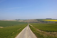 Yorkshire wolds road Royalty Free Stock Photography