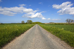 Yorkshire wolds road Stock Image