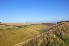 Yorkshire wolds valley Royalty Free Stock Image