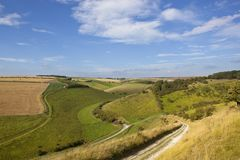 Yorkshire wolds valley Stock Photo