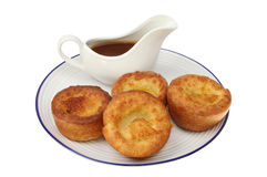 Yorkshires and gravy royalty free stock photography
