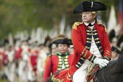 Yorktown围困的再制定  免版税库存照片