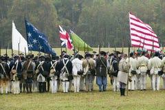 Yorktown围困的再制定  图库摄影