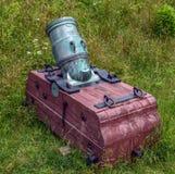 Yorktown Battlefield Mortar Stock Photo