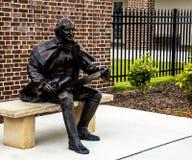 Yorktown, Estados Unidos - 8 de agosto de 2015: George Washington Stat Imagen de archivo