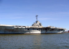 Yorktown naval carrier. Docked in the charleston harbor stock photography