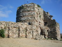 Byzantium castle un Turkey. East Roman fortress, istanbul anadolu kavagi, ancient, historical castle Rome Byzantium Stock Photo