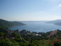 Yoroz castle view. Blacksea landacape view Royalty Free Stock Photo