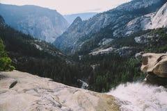 Yosemite - överkant av Nevada Falls Royaltyfria Foton