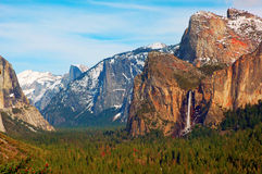 Yosemite. Valley from Tunnel View,  National Park, California, USA Royalty Free Stock Photography