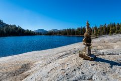 Yosemite backcountry bij gouden uur royalty-vrije stock foto