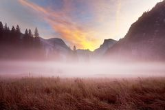 Yosemite. Beautiful Yosemite National Park landscapes, California Stock Images