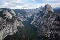 Yosemite birdview. Glacier point, Yosemite National Park Royalty Free Stock Images