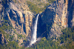 Yosemite Bridalveil fall waterfall at National Park Royalty Free Stock Photography