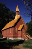 Yosemite Chapel. Built in 1879, is the oldest building still in use in Yosemite valley, Califonia, USA Stock Image