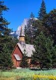Yosemite chapel stock photo