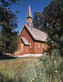 Yosemite chapel. Sitting in a beautiful spot this lovely chapel is simply a retreat Royalty Free Stock Photos