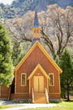 Yosemite Chapel. Front view of Yosemite Valley Chapel, California, USA Royalty Free Stock Images