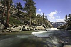 Yosemite Creek before dropping as a waterfall Royalty Free Stock Photos