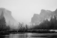 Yosemite dalsikt Royaltyfri Foto