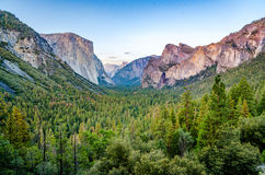 Yosemite dalsikt Royaltyfri Fotografi