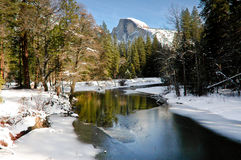Yosemite in de winter Stock Afbeeldingen