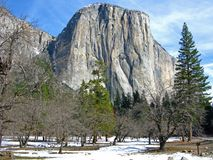 Yosemite in de winter Royalty-vrije Stock Afbeelding