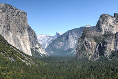 Yosemite - El Capital, Bridal Veil Falls, Half Dome Royalty Free Stock Photography