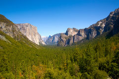 Yosemite el Capitan and Half Dome in California Royalty Free Stock Images