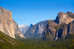 Yosemite el Capitan and Half Dome in California Royalty Free Stock Images