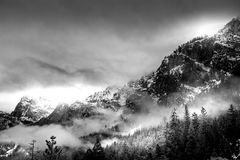Yosemite en hiver Photo libre de droits
