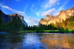 Yosemite en la puesta del sol Fotos de archivo