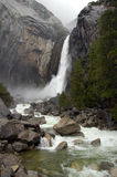 Yosemite fall in stormy weather Royalty Free Stock Image