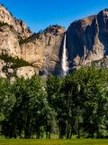 Yosemite Fall, Waterfall, National Park, Forest and Meadow Royalty Free Stock Images