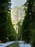Yosemite Fall in winter Stock Photography
